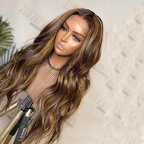 180 Density Glueless Full Lace Wigs Honey Blonde