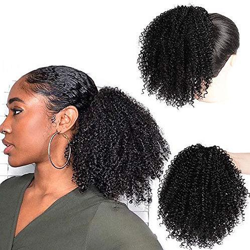 Ponytail Human Hair Mongolian Afro Kinky Curly