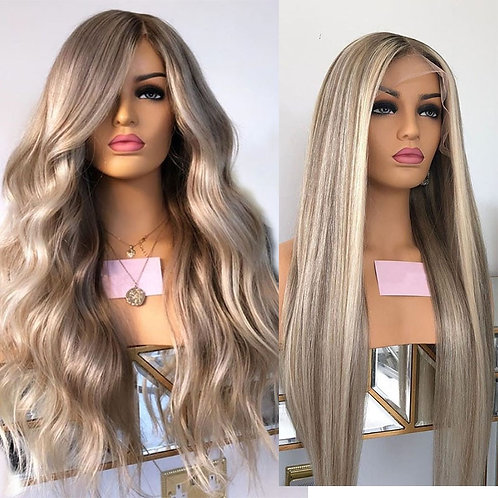Brazilian Remy Highlight Platinum Blonde Ombre