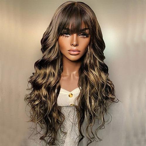 Silk Base Highlights Wave Full Lace Human Hair Wig