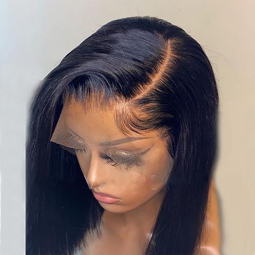 Jet Black Blunt Cut Short Bob for Black Women  Lace Front Synthetic Wigs