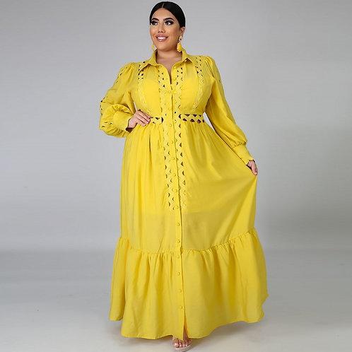 Lace Pleated Glitter Dashiki Maxi Dress