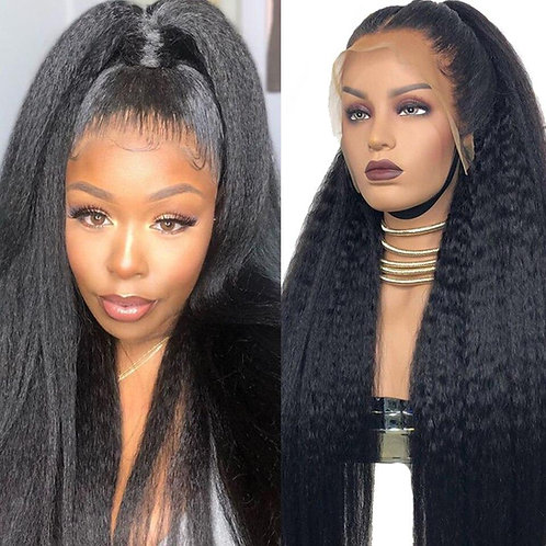 150 Density- Kinky Straight Lace Front Human Hair