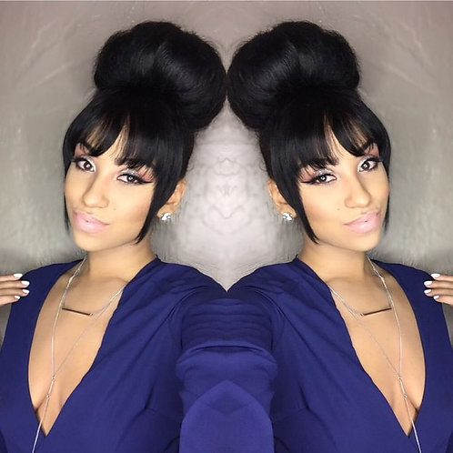 Silky Straight 360 Lace Frontal Wig Brazilian