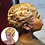 Thumbnail: 6Inches Long Afro Kinky Curly Wigs for Black Blonde Mixed Brown Heat Resistant