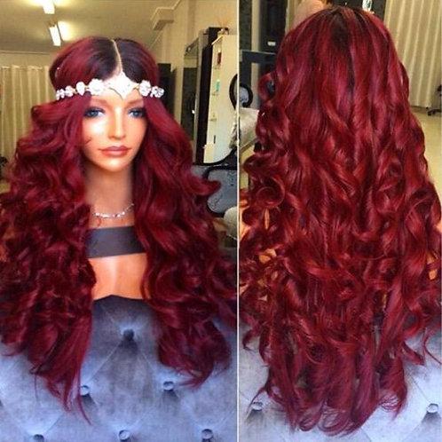 Full Lace Burgundy Human Hair Wig