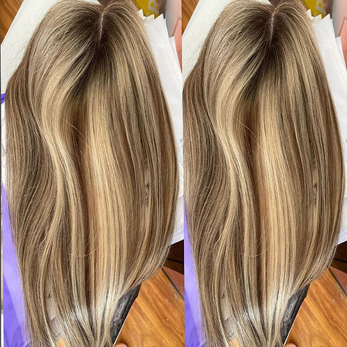 "6""-20'' 8x13cm Highlight Brown and Blonde Color"