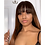 Thumbnail: Brazilian Straight Ombre Human Hair Wigs With Bang Silk Brown Remy 30inch