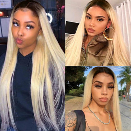 613 Blonde Ombre Color Wig Long Pre Plucked Glueless