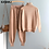 Thumbnail: 2 Pieces Set Women Knitted Tracksuit Turtleneck Sweater + Carrot Jogging Pants