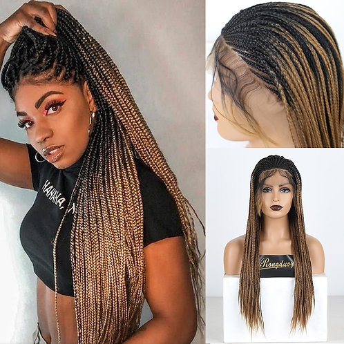 Two Tone Braided Box Braids Wigs for Women