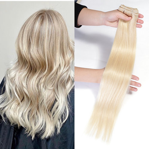 """Remy Human Hair Extensions 20"""" 24"""" 100g/Pc Black Blonde Ombre Piano"""