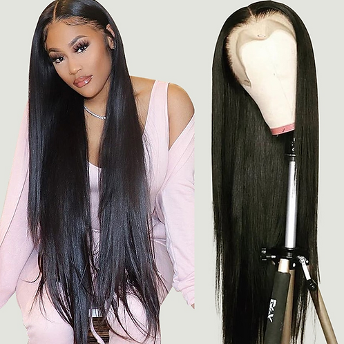 30 Inch Bone Straight Lace Front Wig