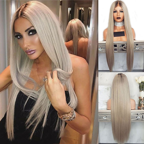 613 Wavy Ombre Platinum Wig  Human Hair Wigs Pre Plucked