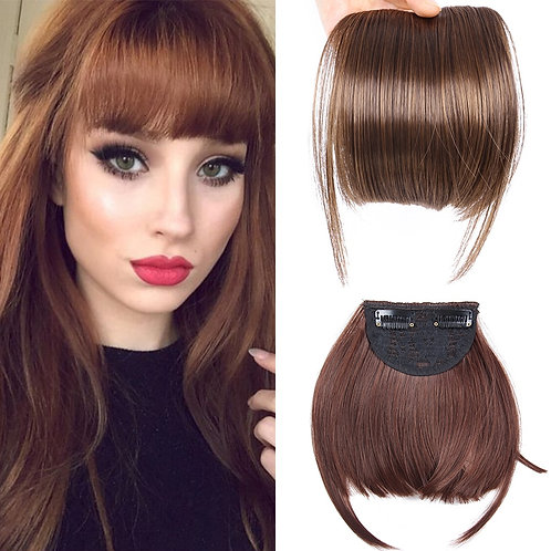 Front Fringe Clip on Bangs Hairpiece Black Brown Blonde