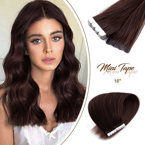"Mini Tape in Human Hair Adhesive Extensions 12"" 16"" 20"""