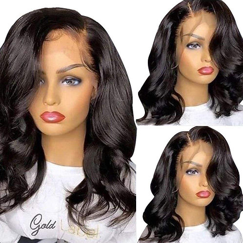 Body Wave Lace Front Human Hair Wigs Remy Peruvian Hair