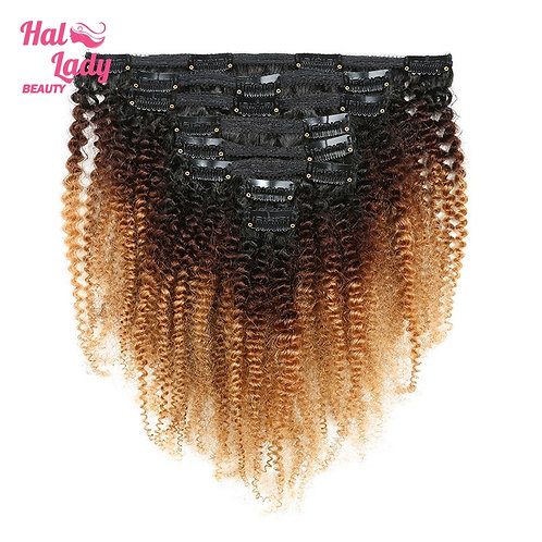8Pcs Set Thick Afro Kinky Curly Clip in Double Weft Hairpiece