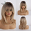 Thumbnail: Layered Hairstyle Ombre Black Brown Blonde Gray Ash Full Wigs With Bangs
