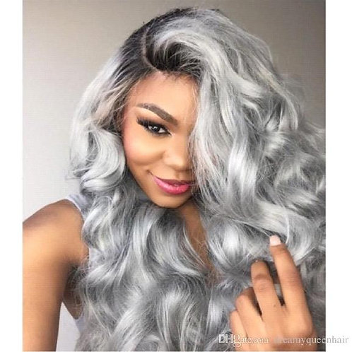 Ombre Grey Full lace wig