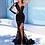 Thumbnail: Sofuge Black Arabian Mermaid Long Evening Dresses