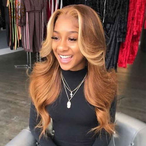 Honey Blonde Pre Plucked Full Lace Wig