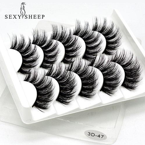 5Pairs 3D Mink Lashes False Eyelashes Natural/Thick Long Eye
