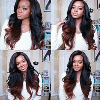 Ombre brown extensions available