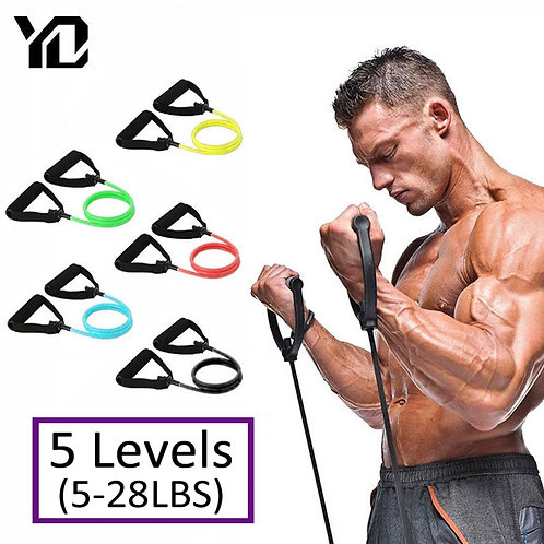 120cm Fitness Resistance Bands Gym Equipment