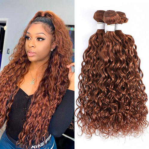 30# Brown Blonde Water Wave Human Hair Bundles