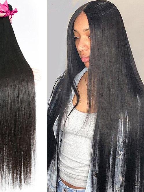 Brazilian Hair Weave Bundles Straight 100% Human Hair 28 30 32 Inch