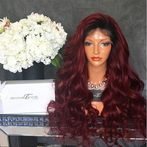 Virgin Brazilian Burgundy Full Lace Wig
