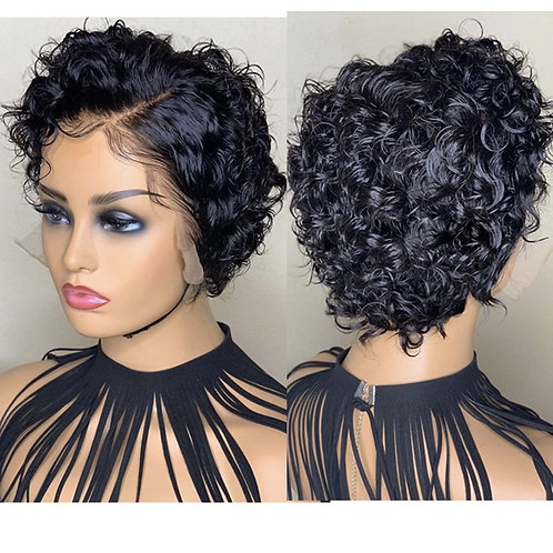 8inch Loose Curly Human Hair Wig Glueless