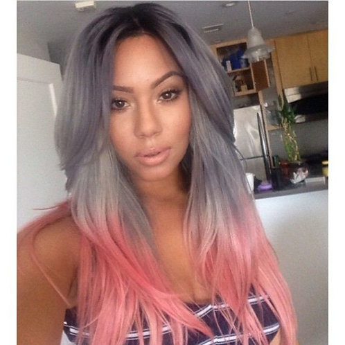 Peach Grey Extensions