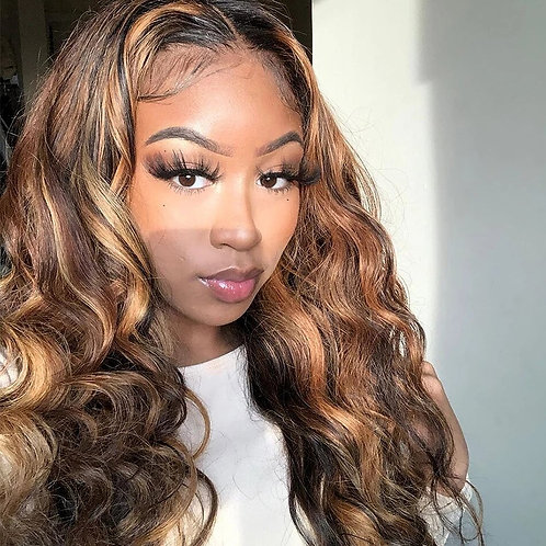 Preplucked Hairline  Lace Front for Black Women 10-30 Inch Ombre