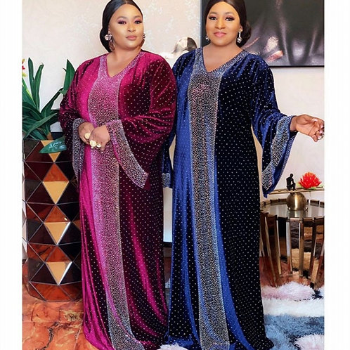 Muslim Long Maxi Dress High Quality Fashion African Dress