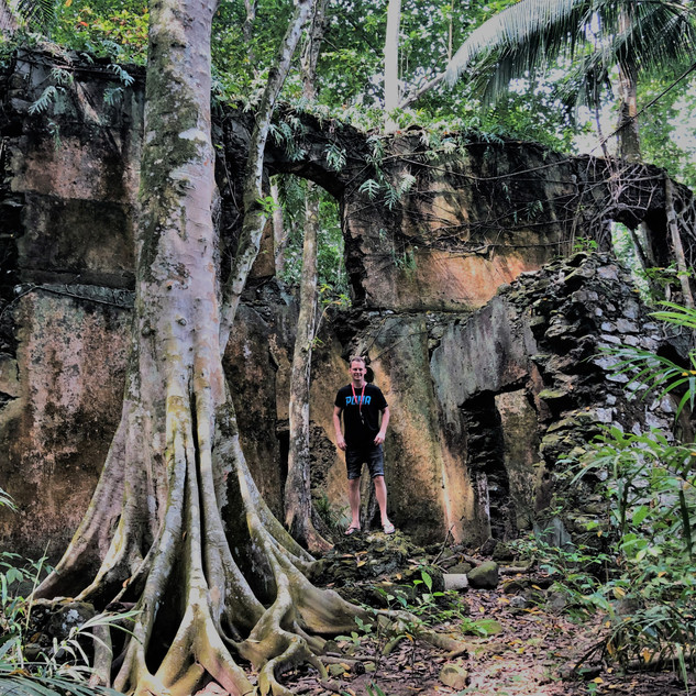 Jungle ruin at Praia Ribeira Izé