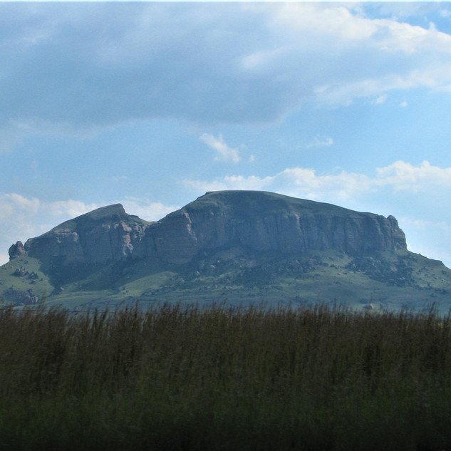 View of the Drakensberg Mts.