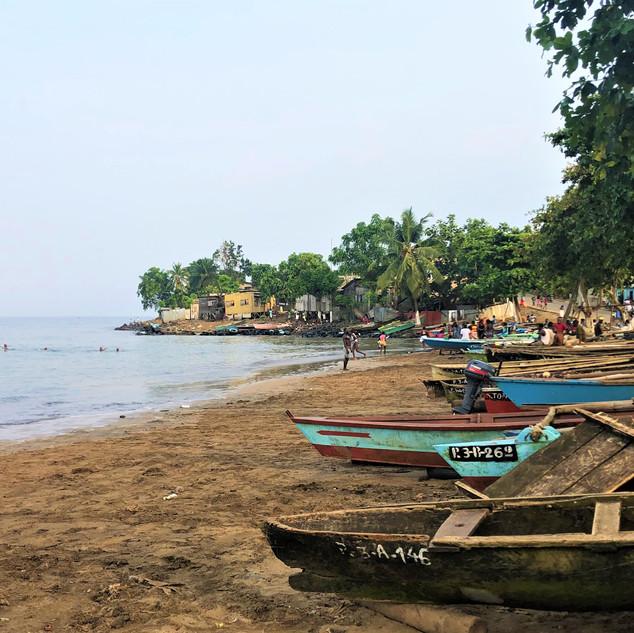 Praia Melao, east coast near São Tomé city