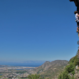 Climing in Table Mts.
