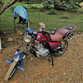 Renting a motor bike to go to the remote east coast