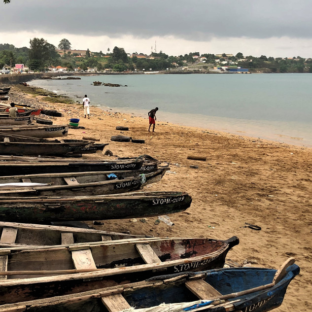Beach of São Tomé city
