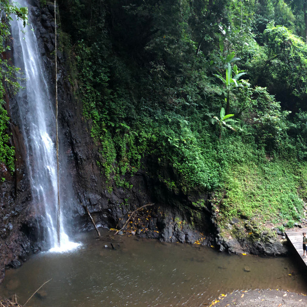 Sao Nicolao waterfall, interior of island