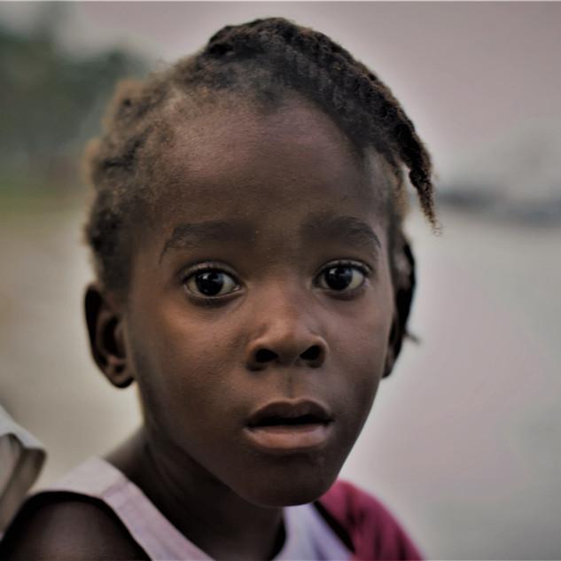 Girl at Praia Ribeira Izé