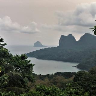 View towards the south of Principe Island and Ilhéu Bone do Joqquei