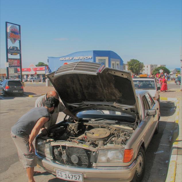 Port Elisabeth - first car break-down