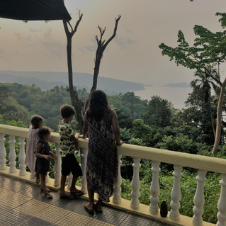 View over nothern Principe from Belo Monte plantation