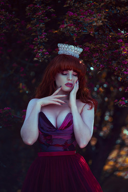 Photographer | Anjelica Hyde Model & HMUA | Miss Deadly Red Designer | Emiah Tiara | Monarque Jewels