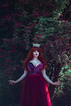 Photographer | Anjelica Hyde Model & HMUA | Miss Deadly Red Designer | Emiah Tiara | Monarque Jewels