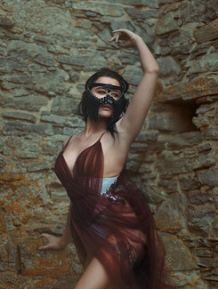 Photographer | Sally Sparrow Model | Lady Megara Mask | Chained and Stoned Designer | Emiah